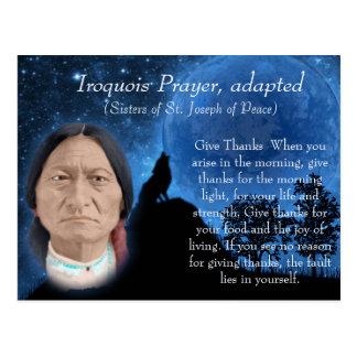Iroquois Prayer Postcard