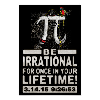 Irrational Pi Day Pirate Poster