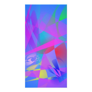 Irregular Forms Light Blue Abstract Picture Card
