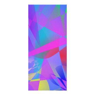 Irregular Forms Light Blue Abstract Custom Rack Card