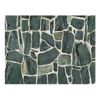 Irregular Stones Wall Texture Postcard