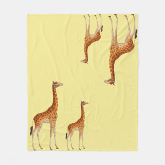 Irresistable Giraffe Fleece Blanket