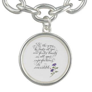 Irresistible romantic typography love quote