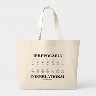 Irrevocably Correlational (Correlation Statistics) Jumbo Tote Bag