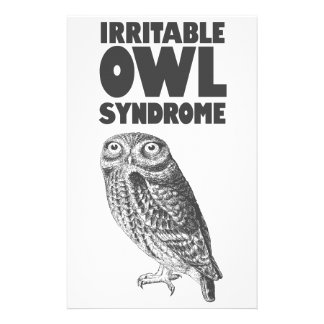 Irritable Owl. Funny pun Stationery