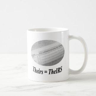 IRS 1040 tax form Basic White Mug
