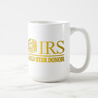 IRS Gold Star Donor Coffee Mug