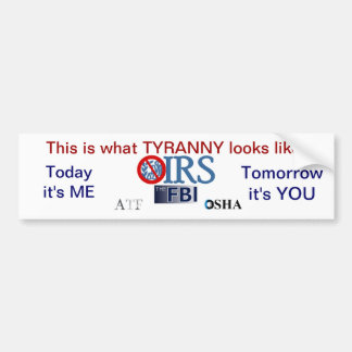 IRS Scandal 2013 Bumper Sticker
