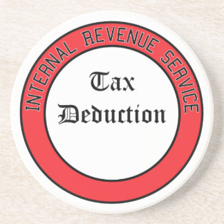 IRS Tax Deduction Beverage Coaster