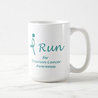 iRun for Ovarian Cancer Awareness Basic White Mug