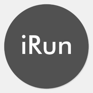 iRun Round Sticker