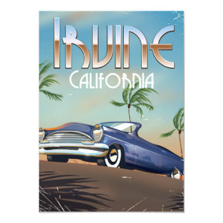 Irvine California Travel poster Card