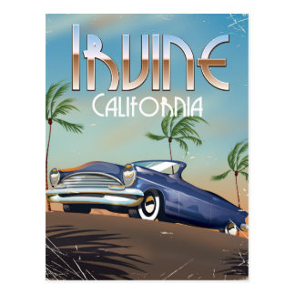 Irvine California Travel poster Postcard
