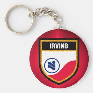 Irving  Flag Key Ring