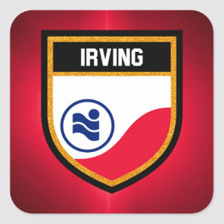 Irving  Flag Square Sticker