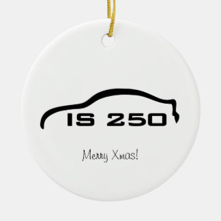 IS250 Black Silhouette Logo with Faux Carbon Ceramic Ornament