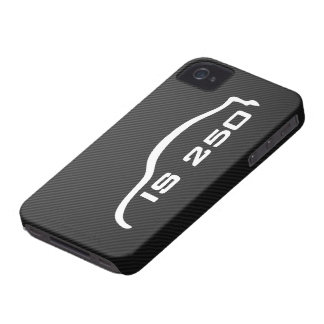 IS250 White Silhouette Logo with Faux Carbon iPhone 4 Case-Mate Case
