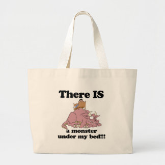 IS a monster under my bed Jumbo Tote Bag