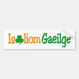 Is breá liom gaeilge (I love Irish) Bumper Bumper Sticker