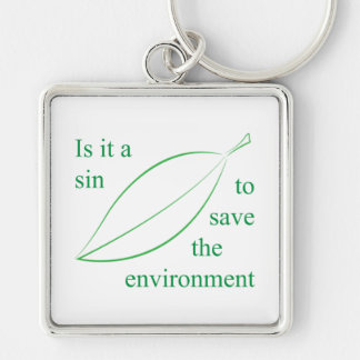 Is it a sin Silver-Colored square key ring