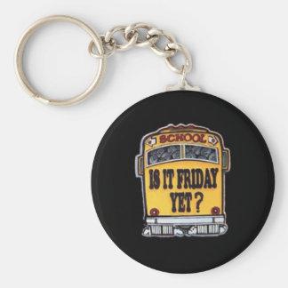 Is It Friday Yet? School Bus Key Ring