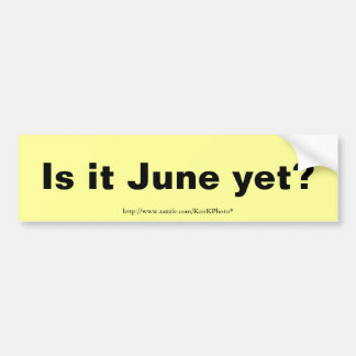Is it June? Bumper Sticker
