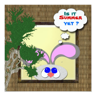 "Is it Summer Yet ? 5.25"" Square Invitation Card"