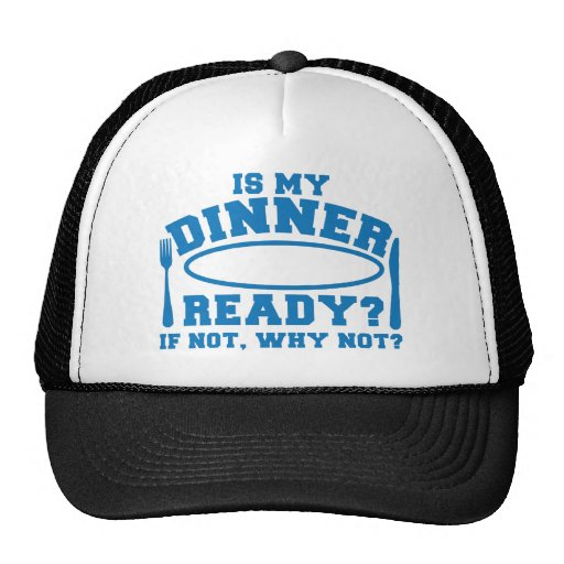 Is my Dinner ready if not WHY NOT? Mesh Hats