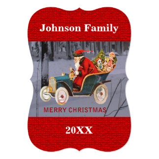 Is Santa Driving to Your Town Flat Card 13 Cm X 18 Cm Invitation Card