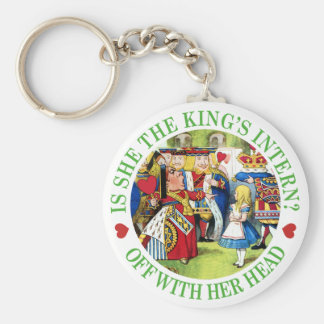 Is She The King's New Intern? Off With Her Head! Key Ring