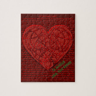 Is This Knot Love? Personalized Valentine Jigsaw Puzzle