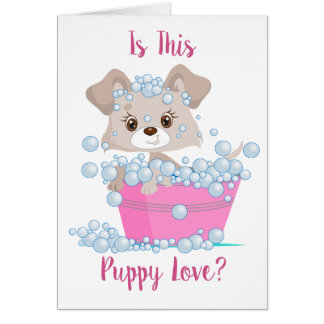 Is This Puppy Love Valentine Greeting Card