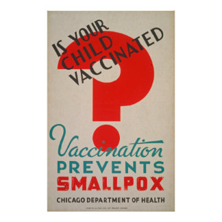 Is Your Child Vaccinated Vintage Poster