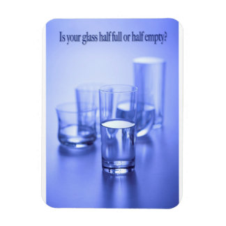 """Is Your Glass 3""""x4"""" Photo Magnet"""