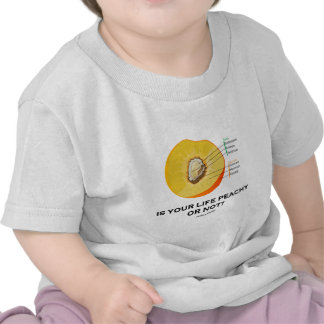 Is Your Life Peachy Or Not Food For Thought Shirts