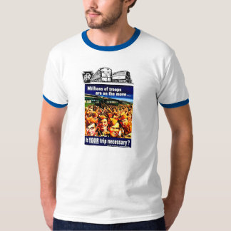Is your Train Trip Necessary, PRR  US Armed Forces T-Shirt