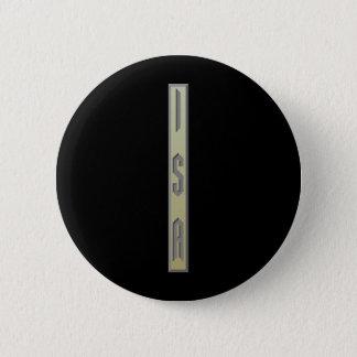 Isa Rune gold 6 Cm Round Badge