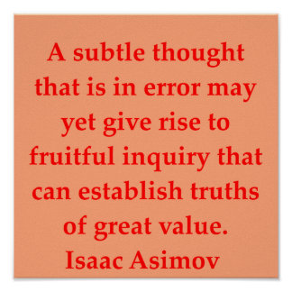 isaac asimov quote posters
