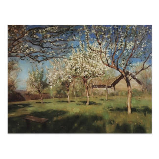 Isaac Levitan- Apple trees in blossom Postcard