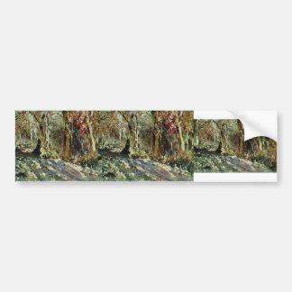 Isaac Levitan- Autumn forest Bumper Sticker