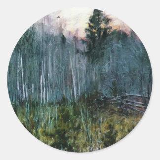 Isaac Levitan- Draw Round Stickers