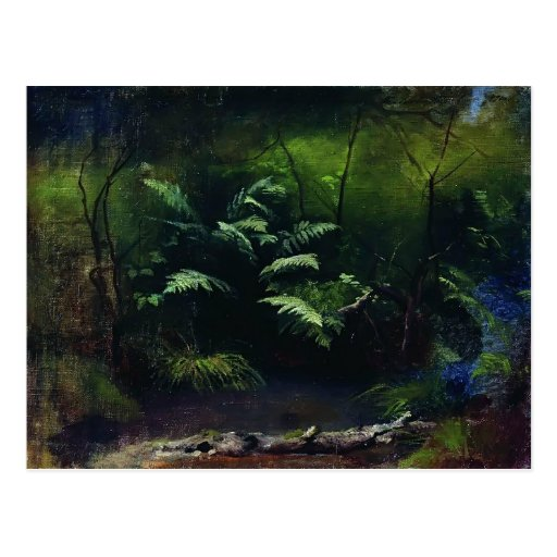 Isaac Levitan- Ferns by the water Post Cards