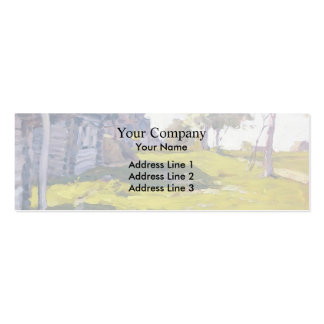 Isaac Levitan- Sunny Day. A Village Business Cards