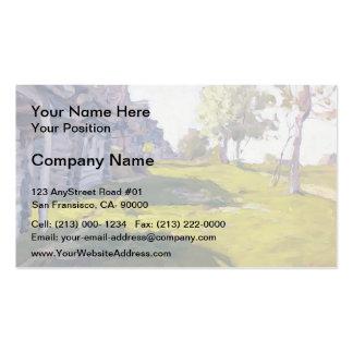 Isaac Levitan- Sunny Day A Village Business Card