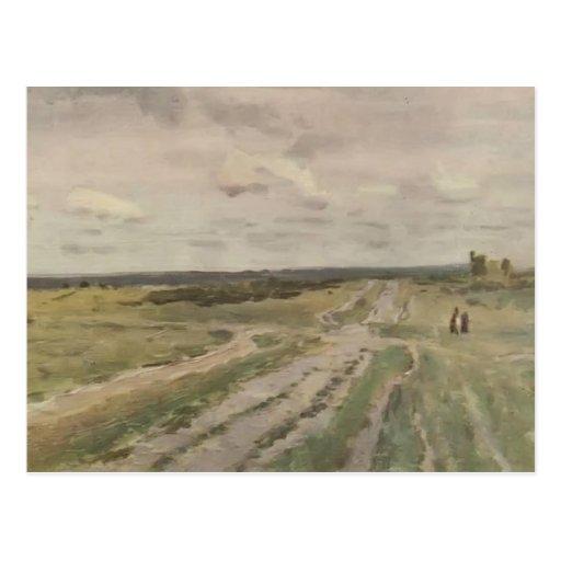 Isaac Levitan- The Vladimir's road Postcard
