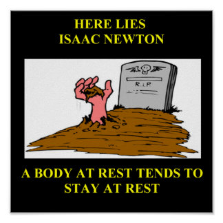 isaac newton joke poster