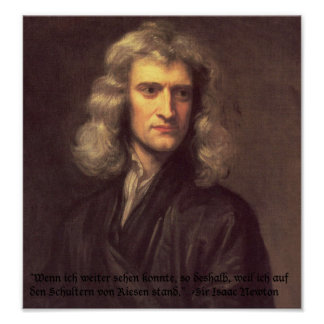 Isaac Newton quotation poster