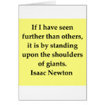 isaac newton quote greeting card