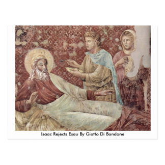 Isaac Rejects Esau By Giotto Di Bondone Postcards