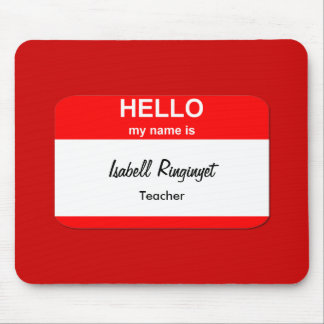 Isabell Ringinyet Mouse Pad
